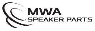 MWA Speaker Parts